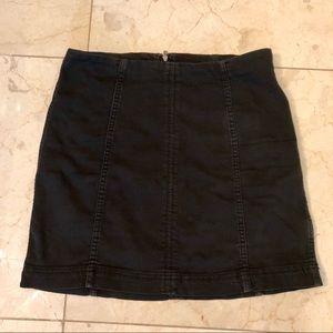 Free people Zip to it mini skirt